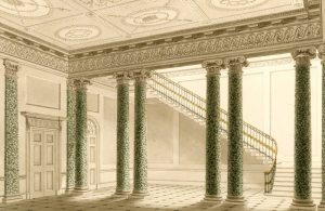 One of George Steuart's designs for the Entrance Hall showing us what it may have looked like before 1805.