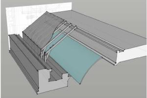 The planned protection of the curved Nash Roof (the lighter blue section)
